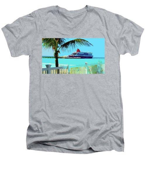 The Bimini Boat Men's V-Neck T-Shirt