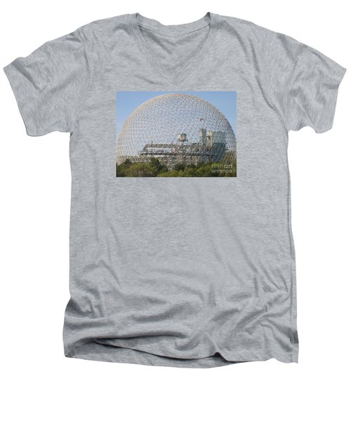 The Biosphere  Ile Sainte-helene Montreal Quebec Men's V-Neck T-Shirt by Reb Frost