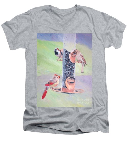 The Bird Feeder Men's V-Neck T-Shirt