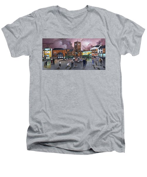 Dudley Trolley Bus Terminus 1950's Men's V-Neck T-Shirt