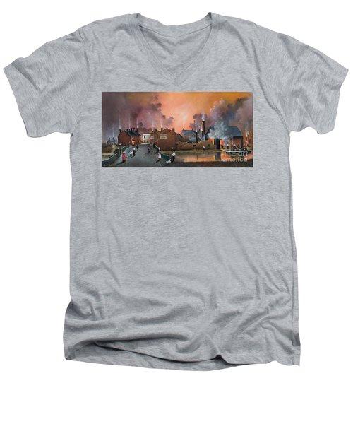 The Black Country Village Men's V-Neck T-Shirt