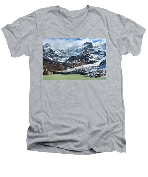 The Black Snowdrift Glacier Men's V-Neck T-Shirt