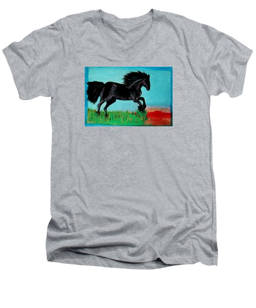 The Black Stallion Men's V-Neck T-Shirt
