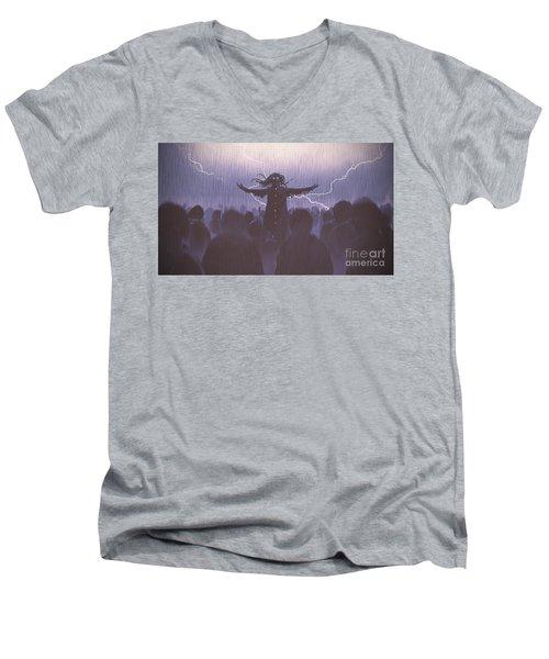 The Black Wizard Men's V-Neck T-Shirt