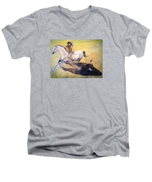 The Blessing Men's V-Neck T-Shirt by Alan Lakin