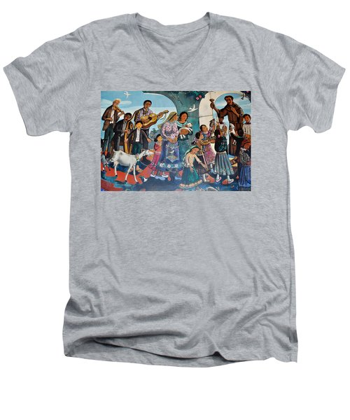 The Blessing Of Animals Olvera Street Men's V-Neck T-Shirt