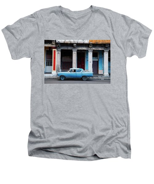 The Blue Car Men's V-Neck T-Shirt