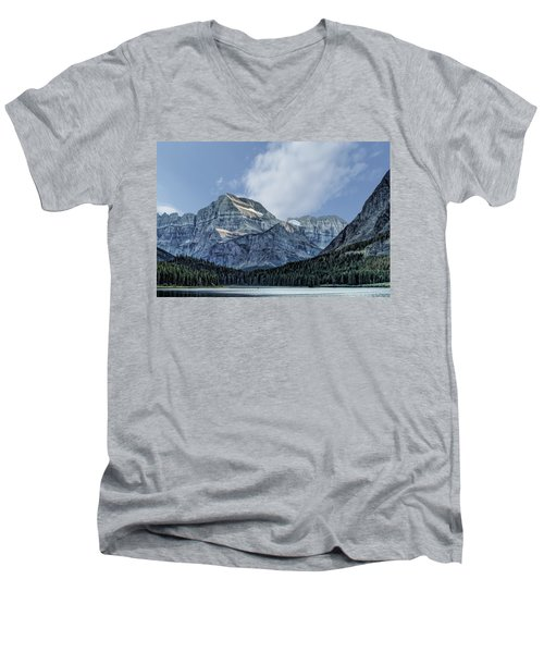 The Blue Mountains Of Glacier National Park Men's V-Neck T-Shirt