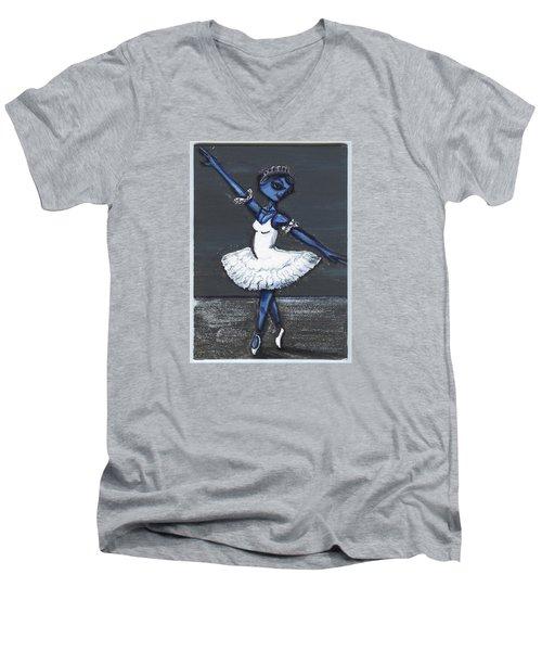 The Blue Swan Men's V-Neck T-Shirt by Similar Alien