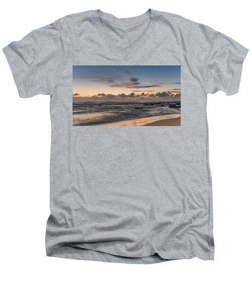 The Blues - Sunrise Seascape  Men's V-Neck T-Shirt