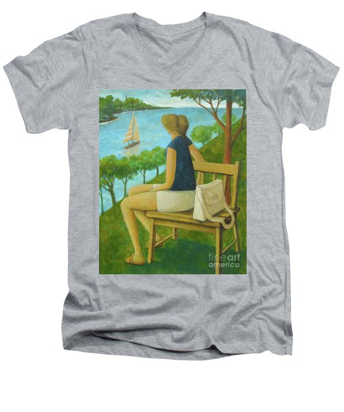 The Bluff Men's V-Neck T-Shirt