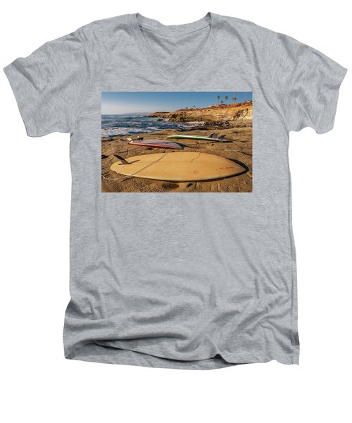The Boards Men's V-Neck T-Shirt by Peter Tellone