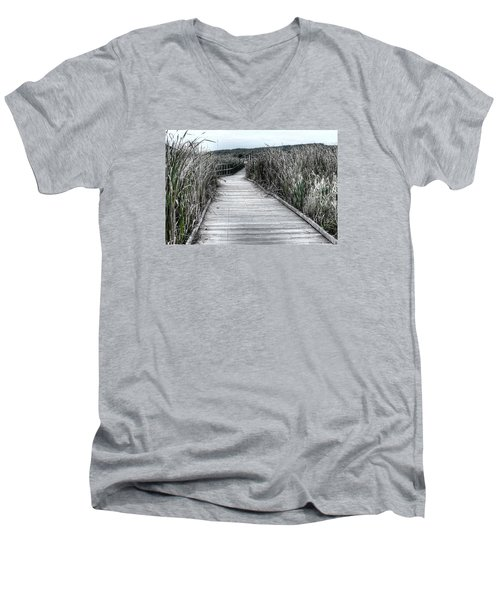Men's V-Neck T-Shirt featuring the photograph The Boardwalk by Michaela Preston
