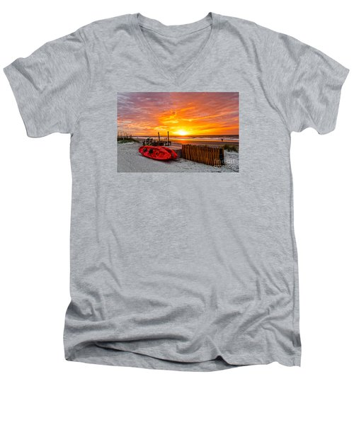 The Break Of Day Men's V-Neck T-Shirt