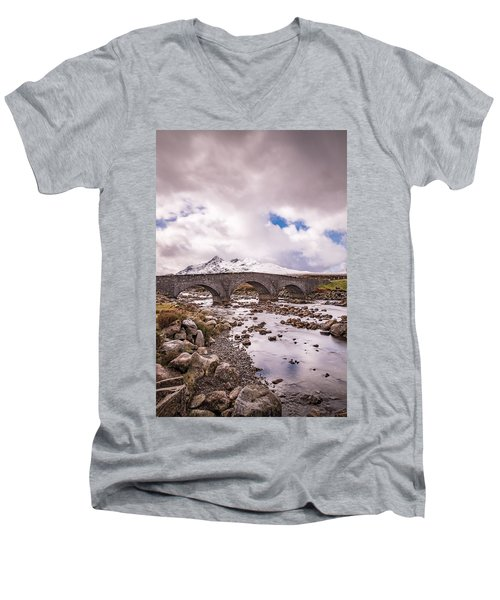The Bridge At Sligachan On Skye Men's V-Neck T-Shirt