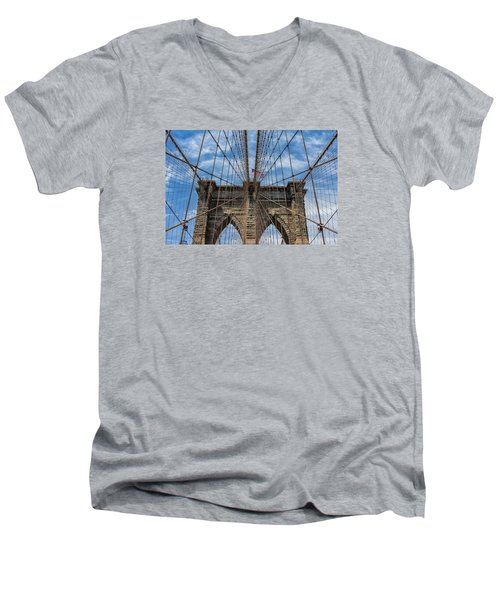 The Brooklyn Bridge Men's V-Neck T-Shirt