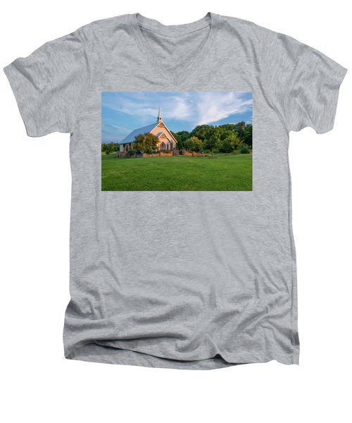 The Brooks At Weatherford Wedding Chapel Men's V-Neck T-Shirt