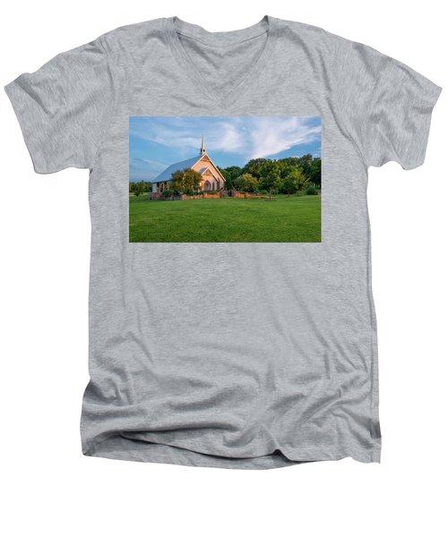 The Brooks At Weatherford Wedding Chapel Men's V-Neck T-Shirt