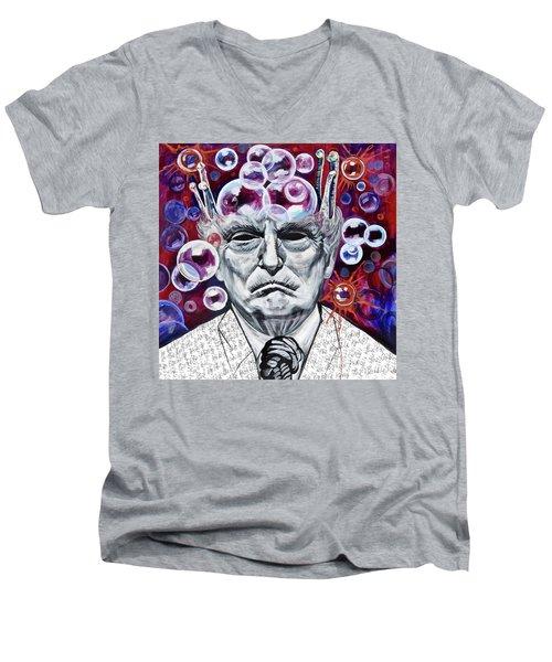 The Bubble King Men's V-Neck T-Shirt