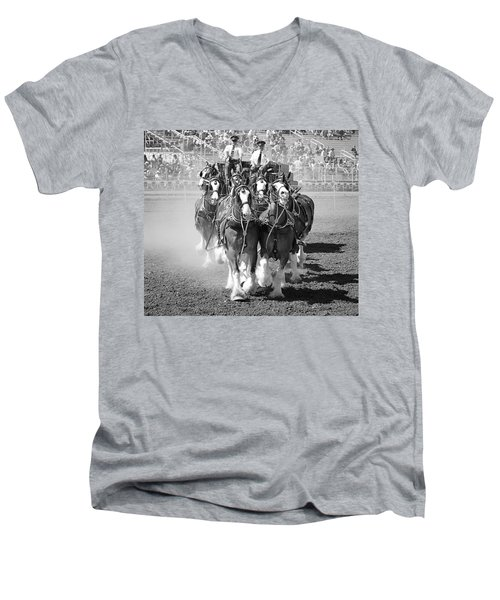 The Budweiser Clydesdales Men's V-Neck T-Shirt