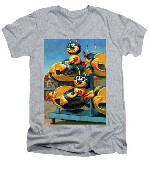 The Buzz Men's V-Neck T-Shirt