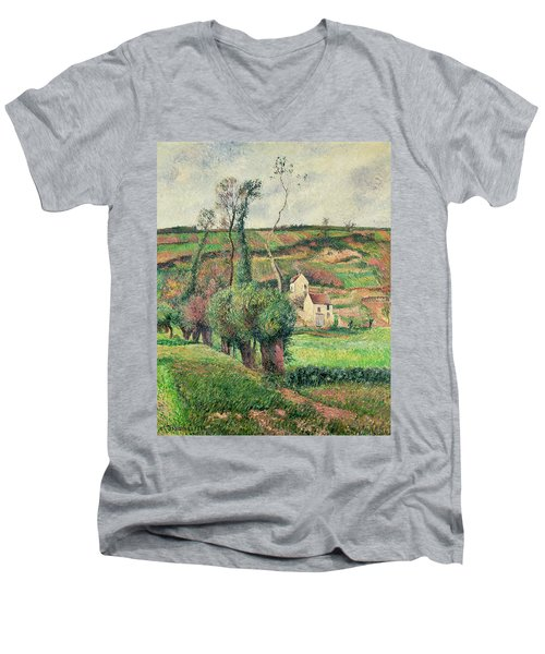 The Cabbage Slopes Men's V-Neck T-Shirt by Camille Pissarro