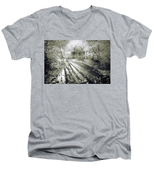 Men's V-Neck T-Shirt featuring the photograph The Calm In Shadows And Light by Tara Turner
