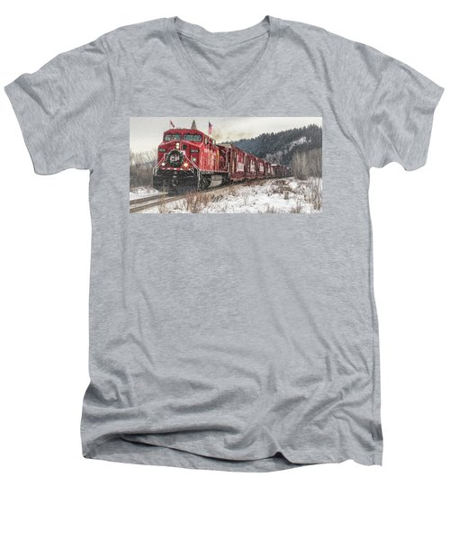 The Canadian Pacific Holiday Train Men's V-Neck T-Shirt