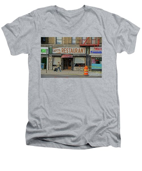 Men's V-Neck T-Shirt featuring the photograph The Capitol by Cole Thompson