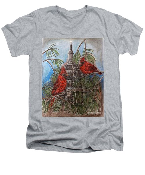 The Cardinals Visit St.pauls Cathedral Men's V-Neck T-Shirt by Kim Jones
