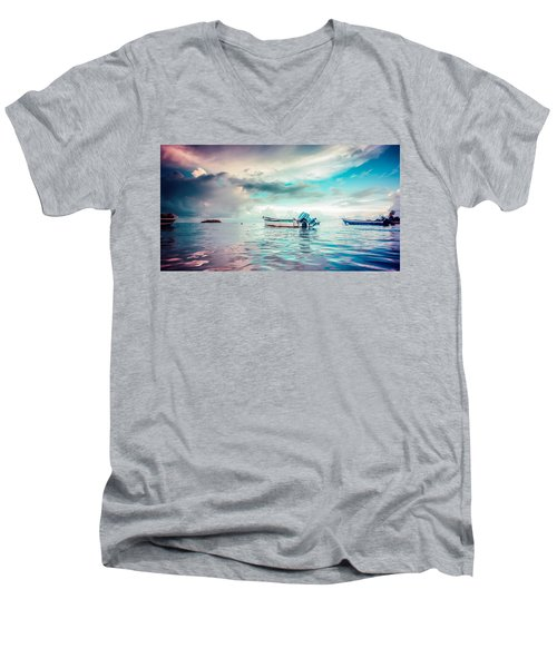 The Caribbean Morning Men's V-Neck T-Shirt
