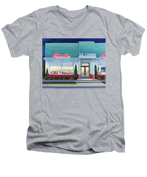 The Carnation Ice Cream Shop Men's V-Neck T-Shirt