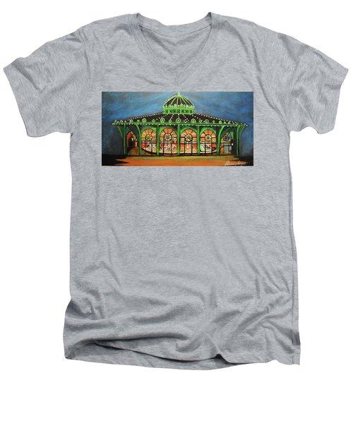 The Carousel Of Asbury Park Men's V-Neck T-Shirt