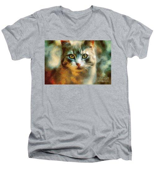 The Cat Eyes Men's V-Neck T-Shirt