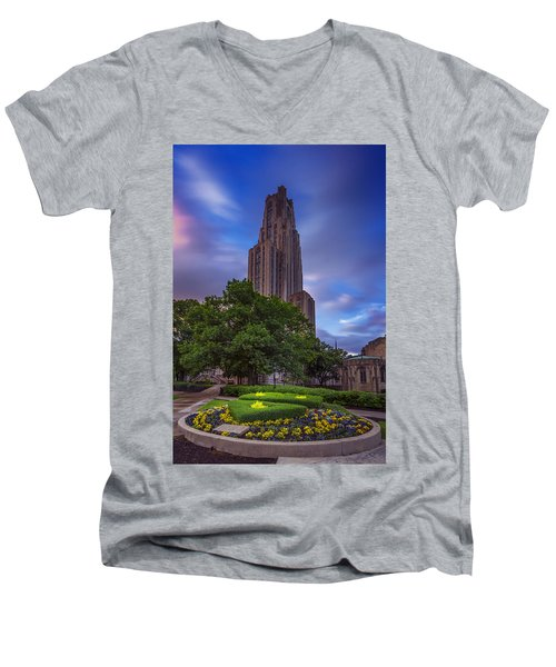 The Cathedral Of Learning Men's V-Neck T-Shirt