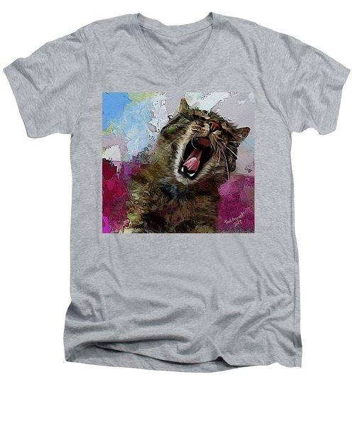 The Cat's Meow Men's V-Neck T-Shirt