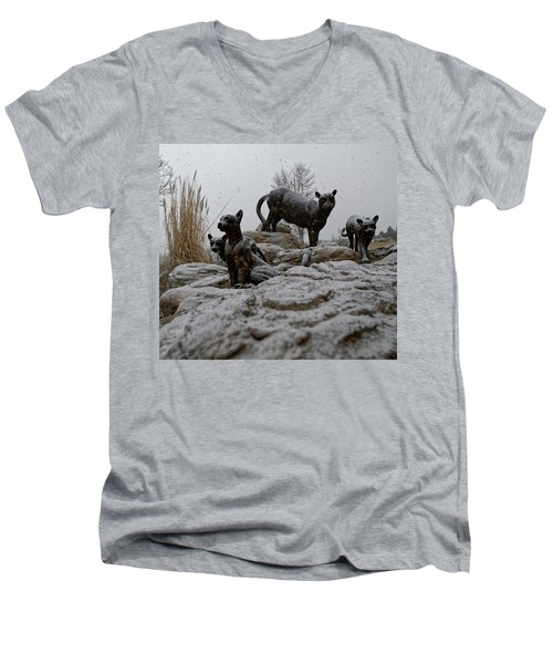 The Cats Men's V-Neck T-Shirt
