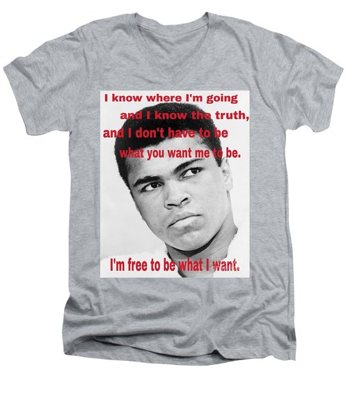 The Champ Muhammad Ali  Men's V-Neck T-Shirt