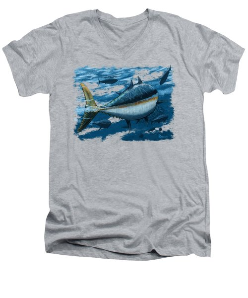 The Chase Men's V-Neck T-Shirt by Kevin Putman