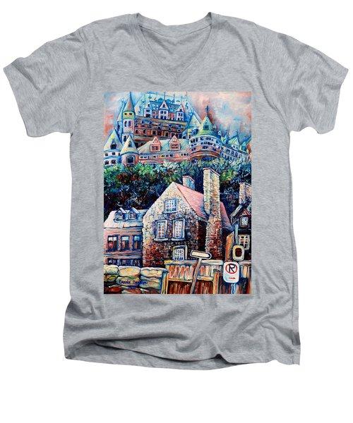 The Chateau Frontenac Men's V-Neck T-Shirt
