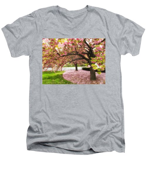 The Cherry Tree Men's V-Neck T-Shirt