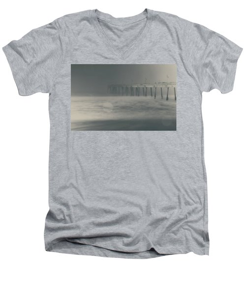 Men's V-Neck T-Shirt featuring the photograph The Chill In My Bones by Laurie Search