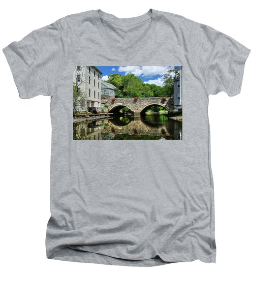 The Choate Bridge Men's V-Neck T-Shirt