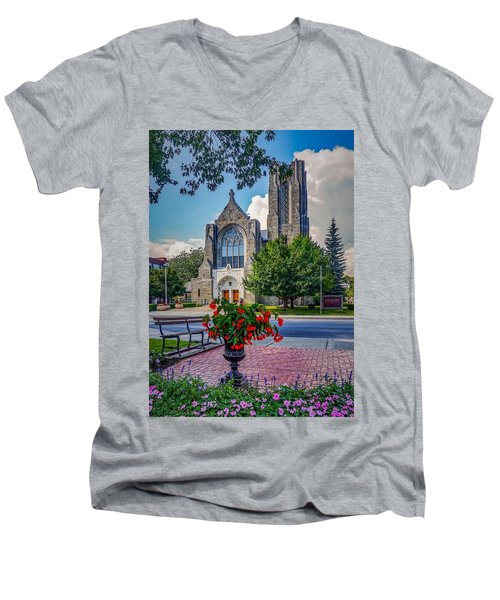 The Church In Summer Men's V-Neck T-Shirt