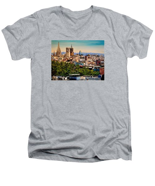 The Church's Of Barcelona Men's V-Neck T-Shirt