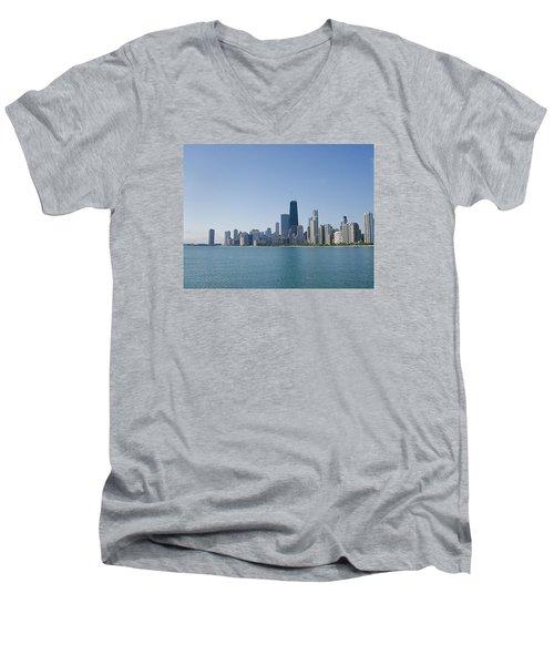 The City Of Chicago Across The Lake Men's V-Neck T-Shirt