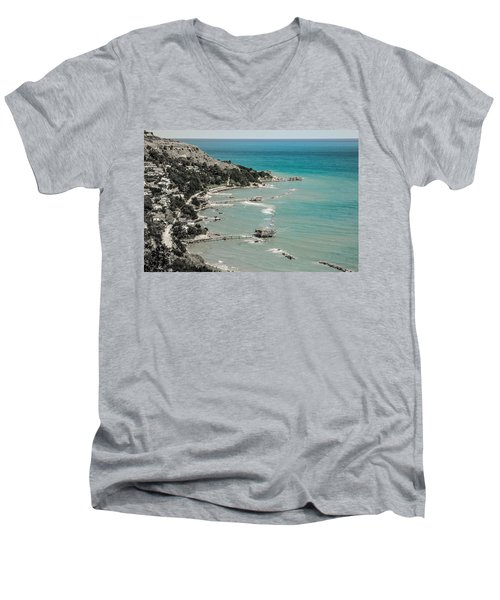 The City Of Waves Men's V-Neck T-Shirt