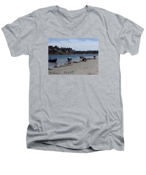 The Clam Diggers - Annisquam River  Men's V-Neck T-Shirt