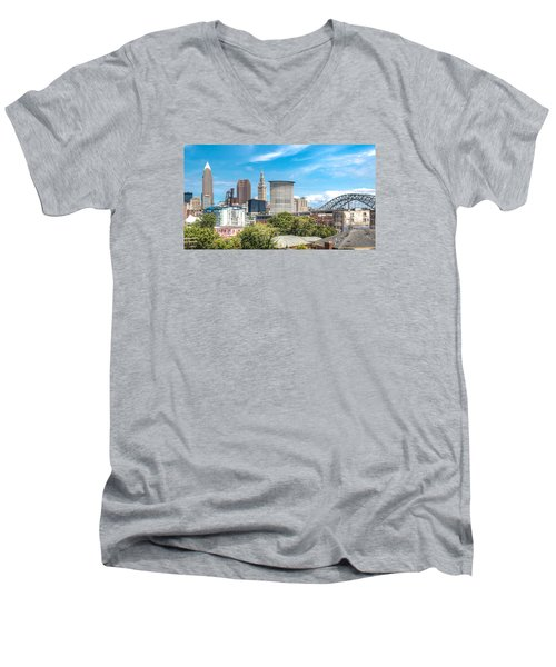 The Cleveland Skyline Men's V-Neck T-Shirt