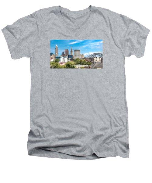 The Cleveland Skyline Men's V-Neck T-Shirt